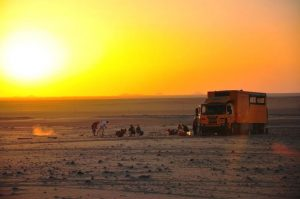 An Oasis Overland expedition truck