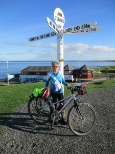 Mally reaches the end of the road at John o'Groats