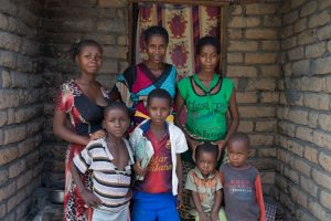 Bawili Hamisi (43) and family at their home Mwandiga 3 Community, Eastern DRC.